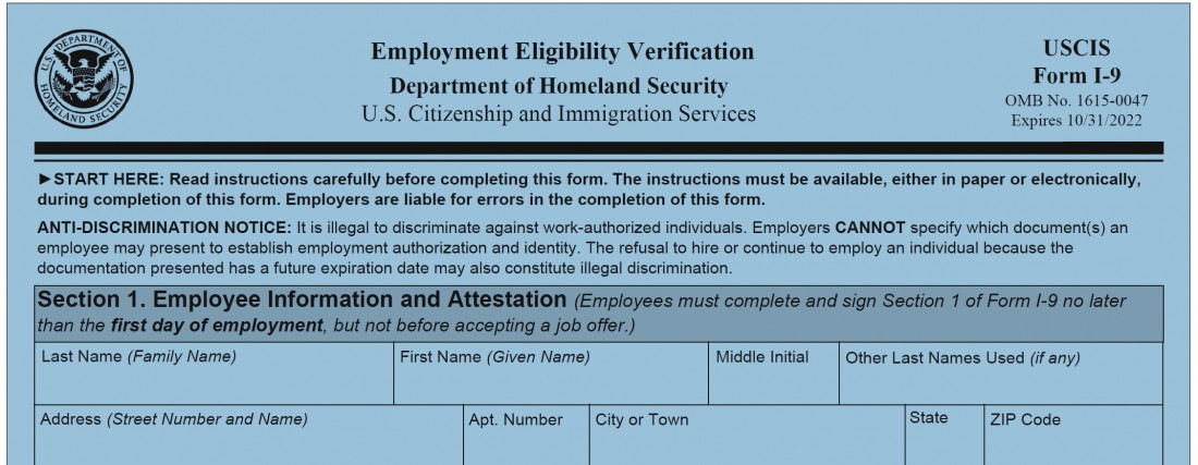 The New Form I- 9- What You Need to Know - Michigan Human Resources Blog - Sage Solutions Group - Final_I9