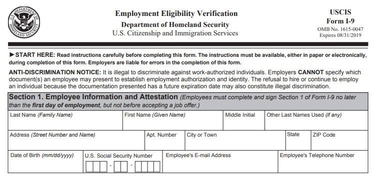 FORM I-9 IS ABOUT TO EXPIRE:  WHAT SHOULD I DO? - Michigan Human Resources Blog - Sage Solutions Group - Form_I-9