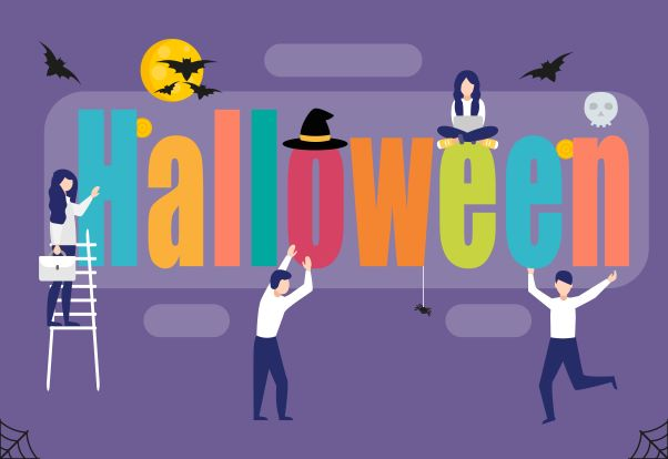 6 Ways to Celebrate Halloween in the Workplace, Without Having to Dress Up! - Michigan Human Resources Blog - Sage Solutions Group - halloween_words_resized